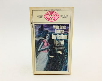 Vintage Gothic Romance Book Invitation to Evil by Willo Davis Roberts 1970 Paperback