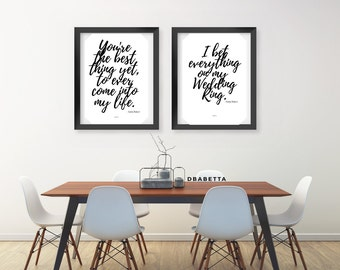 Set of Two Anita Baker Lyric Print | Song | Lyrics | Typography | Poster | Wall Decor | Urban Art | African American Art | Anita Baker