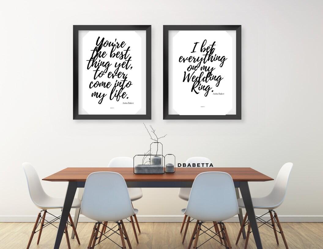 Set Of Two Anita Baker Lyric Print Song Lyrics