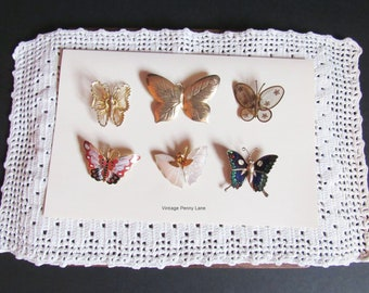 Vintage Butterfly Pins, Brooches, Boho, Hippie, Costume Jewelry / Jewellery