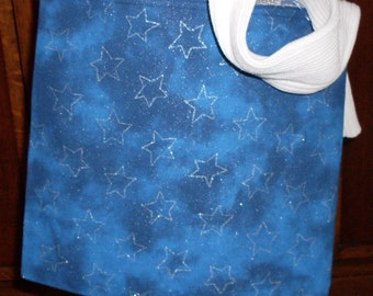 Blue Stary Stary Night Reversible Book Tote Bag Ipad Tote