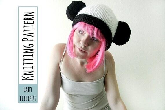 Pattern Knitted Panda Hat