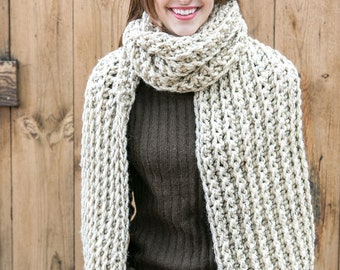 Blanket Scarves // Chunky Knit Scarf // Oversized Winter Scarves // xl Ribbed Scarves // THE ROYAL CLASSIC shown in Oatmeal