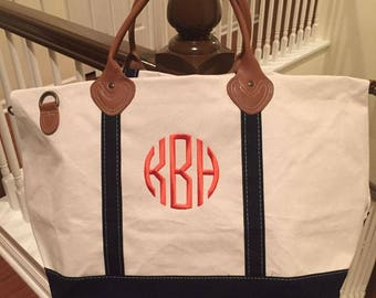 Large Canvas Duffel Bag - Personalized - Canvas Weekender