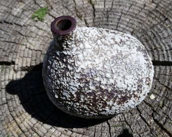 Lovely Textured Ceramic Bud Vase