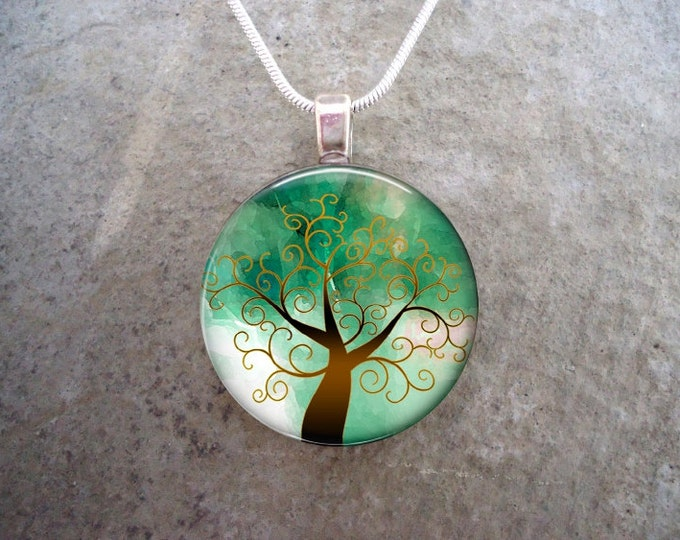 Tree Jewelry - Glass Pendant Necklace - Tree of Life Jewellery - tree 18