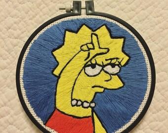 Lisa Simpson Embroidery
