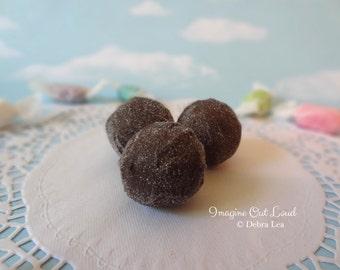 FAUX Fake Chocolate Truffle set Sugar REALISTIC Kitchen Decor Display