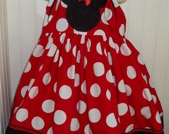 Minnie Mouse Dots Boutique Dress Size 2T 3T 4T 5 6 New