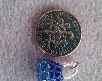 Mini blue Silverlined Handbag