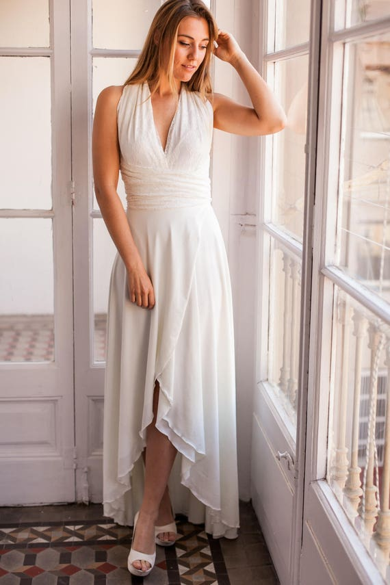 Front slit wedding dress wedding dress with slit high low