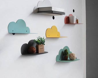 Floating Cloud Shelf on wall