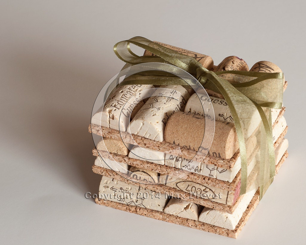 Wedding Favors Wine Cork Coasters Set Of 4 Crafts