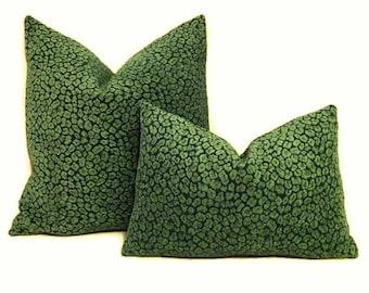 Green Cheetah Print Pillow Cover-Green Leopard Print Pillow Cover- Animal Print Pillow Cover-Cheetah Print Pillow- Malachite Pillow