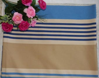 COUPON CANVAS BLUE AND BEIGE STRIPES