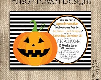 Kids Halloween Party Invitation - Not scary- Custom Printable DIY Invitations
