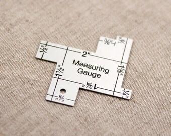 14-in-1 Measuring Gauge - Seam Gauge - Sewing Gauge - Sewing Ruler - Seam Ruler - Quilting Ruler - Quilt Gauge Collins Dritz