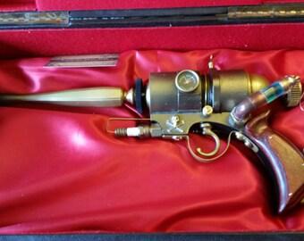 "A Steampunk Blaster-Emitter Type Ray Gun  "" The Galvanic Electro-Inhibitor"""
