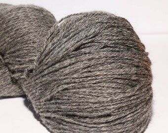 100% Wool Yarn , Fingering 3ply, dk, Mega-Yardage, Kauni Yarn, Dark Grey 8/3