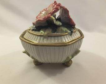 Fitz Floyd Trinket/Candy Bowl Dish With Lid