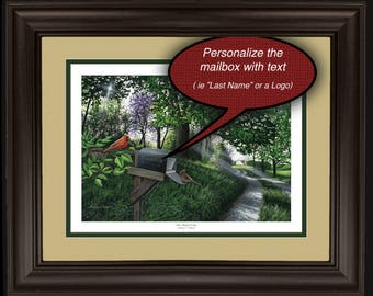 """Personalized 11x14 """"New Beginnings"""" Framed Lithograph"""