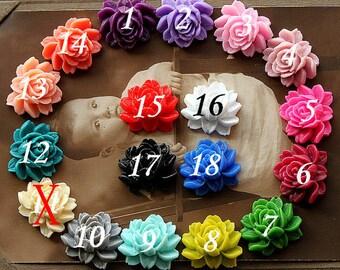 10PCS 18colors Wholesale Beautiful Mix Colorful Rose Flower Resin Cabochon  --20X23mm(CAB-BW-MIXSS)