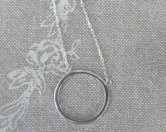 """Silver Choker end """"simple ring"""""""