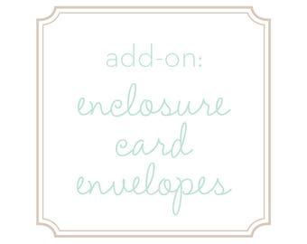 Add-on: Enclosure Card Envelopes