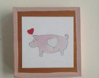 Love Pig Tiny Print