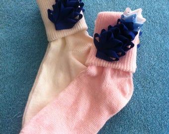 Ribbon Texas Bluebonnet Socks