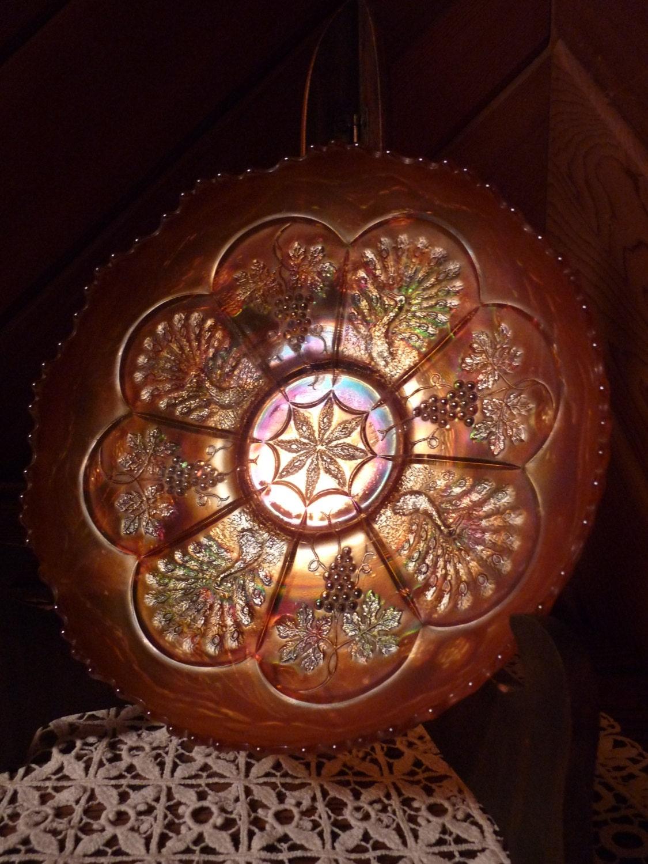 Fenton carnival glass peacock grape pattern marigold zoom reviewsmspy