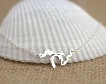 Great Lakes Necklace - I heart Minnesota, Lake Michigan, Lake superior, Midwestern pride, Midwest