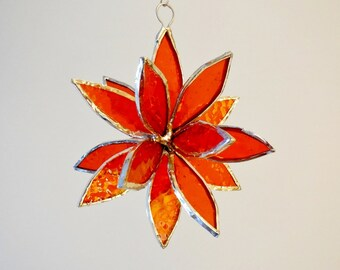 3D Stained Glass Suncatcher. Flower. Flower of Life - Swirl.