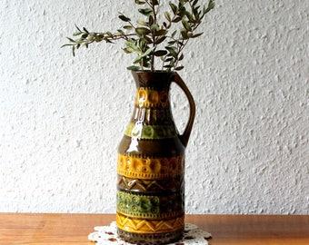 Vase West Germany brown - beige tones