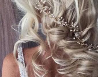 Bridal hair comb Diadema Crown Bridal hair vine Crystals Bridal Wedding Hairpiece Bridal Hair Vine Wedding hair vine pearl hair vine