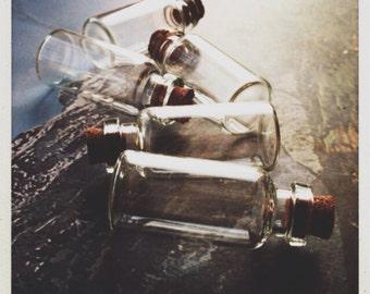 glass bottles with cork - 10  destash size D
