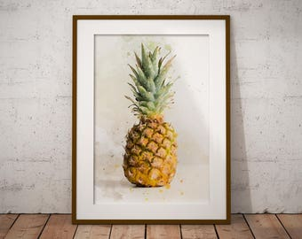 Pineapple Wall Art // Pineapple Decor // Tropical Decor // Pineapple Print // Hawaiian Decor // Tropical Wall Art // Hawaiian Wall Art