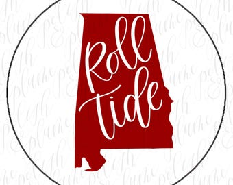 "3 Designs | Alabama Crimson Tide Roll Tide 3"" Game Day Buttons Pins"