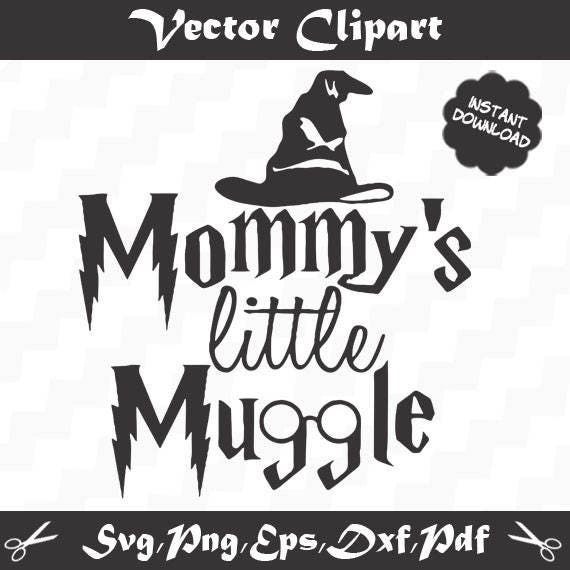 Mommy's little muggle Baby svg Cute svg Harry Potter