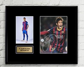 Neymar JR Autograph Signed Poster Art Print Artwork - FC Barcelona