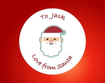 35 Personalised Christmas stickers