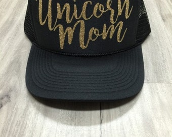 Unicorn Mom Trucker Hat Mesh Camping Desert Riding Country Women's Ocotillo Glamis Dunes