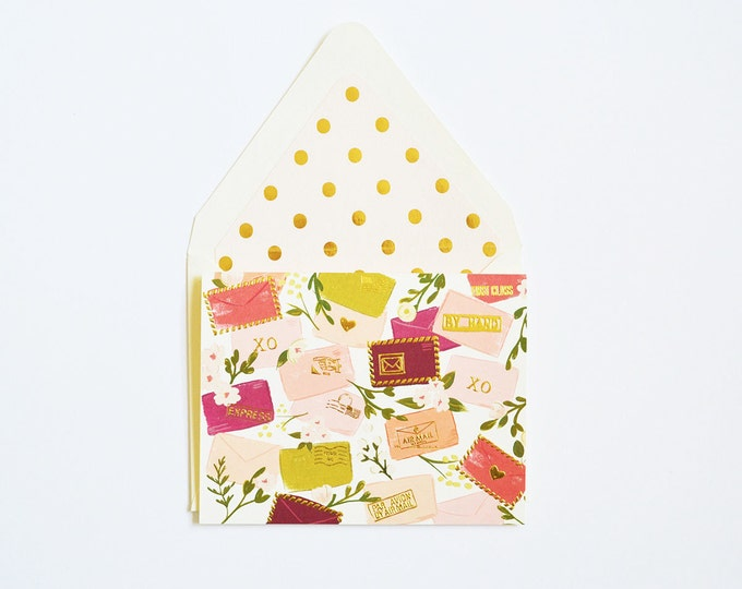 Sweet Postals in corals and blush card