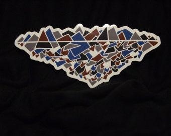 Mountain Gems Vinyl Sticker - Laptop Decal, Bumper Sticker