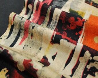 "14.5""w. x 37.2""l. Japanese vintage kimono fabric, kimono fabric, kimono scraps, chirimen, splash 3164B"