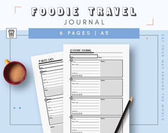Restaurant Journal | Gift for Foodie | Food Lover Restaurant Review | Food Blog Planner | Restaurant List and Dining Diary