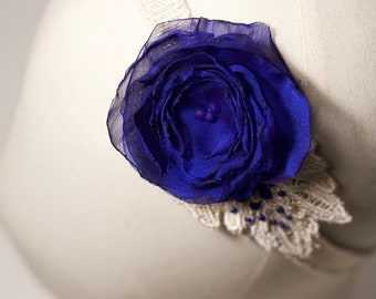 Royal Blue wedding headband