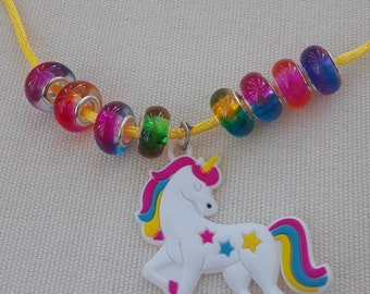 Adorable unicorn necklace for girls! Ready to ship. Free shipping!