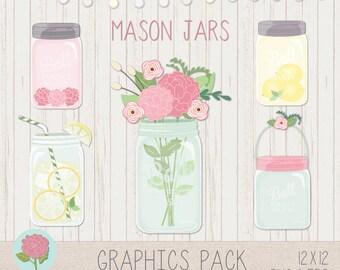 LeeLee Graphics - Clip Art (Mason Jars)