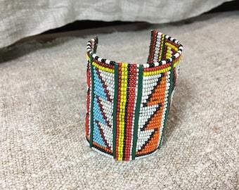 Hand beaded bracelet from Kenya